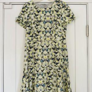 J.Crew floral print dress